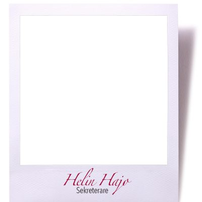 Blank instant camera photo print isolated on white with shadow.